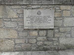 targa Ebrei a San Marino