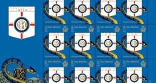San Marino celebra i 110 anni di vita dell'Inter con un francobollo da due euro