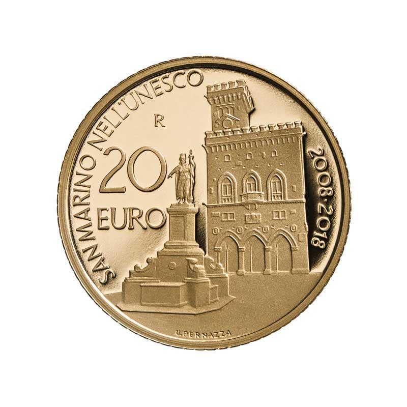 Moneta d'oro anniversario Unesco