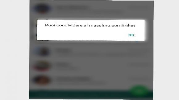 WhatsApp inoltri limitati