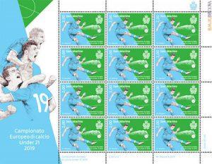 Un francobollo per gli Europei Under 21