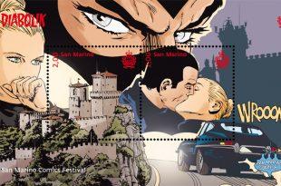 Diabolik in francobollo per il San Marino Comics Festival