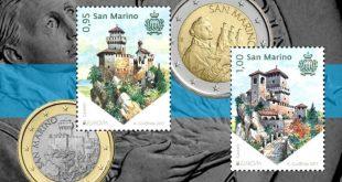 Le Torri 'a braccetto' in francobolli e monete
